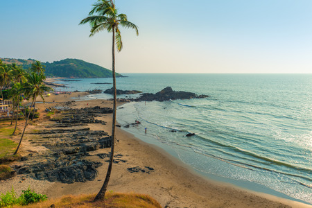 Top view of Vagator Beach in North Goa