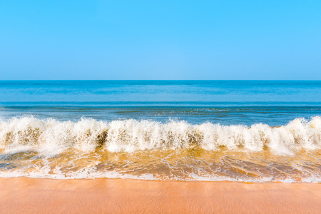 rural scenes: beautiful blue sea and the waves Stock Photo