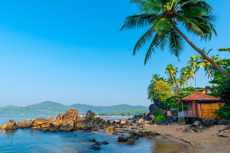 beautiful view of the morning beach Goa
