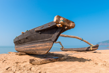 scorching: Fishing boats under the scorching sun Stock Photo