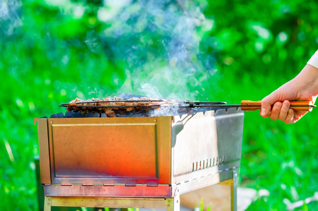 brazier: delicious meat cooked on the brazier outdoors