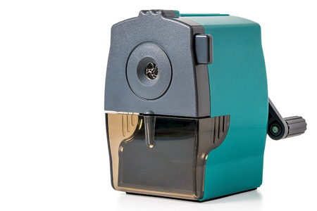 sharpeners: shot on a white background mechanical pencil sharpeners Stock Photo
