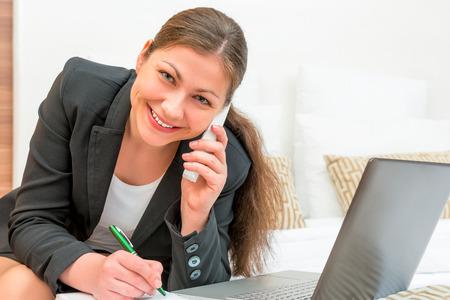 ideally: Beautiful girl ideally built a successful business