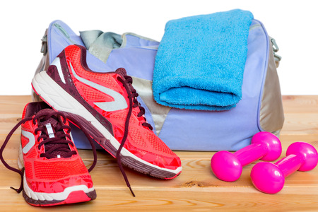 sport clothes: a set of for playing sports close-up