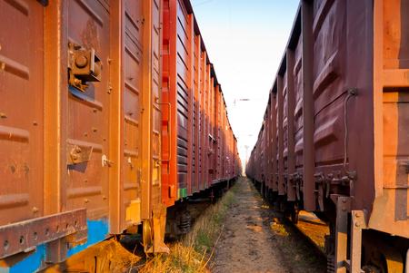 wagons: covered rail wagons for cargo transportation