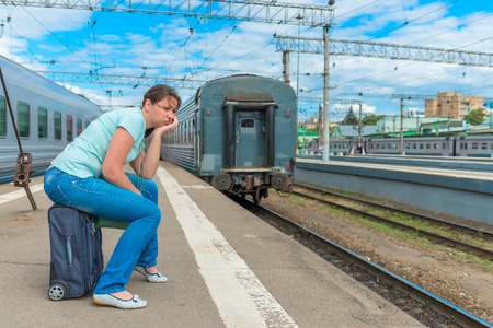 train: distressed young girl late for his train