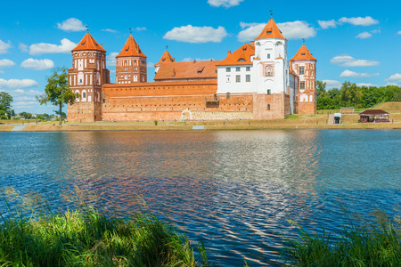 architectural heritage of the world: Mir Castle - fortification and residence in the urban village World Korelichi district of the Grodno region. Architectural, declared a UNESCO World Heritage Site (2000). Up to 1568 hosts were Ilyinich, then - Radziwill (up to 1828), Wittgenstein (up to 18