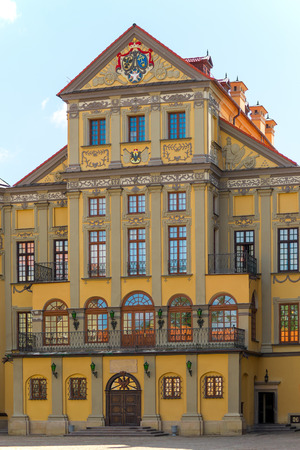 ordinate: The palace and park ensemble of the XVI-XIX TTFS. in Nesvizh Nesvizh belongs to the first ordinate Nicholas Christopher Radziwill Orphan (1549 - 1616). Start of construction refers to the beginning of 1583 in XVI. Construction work has been largely comp
