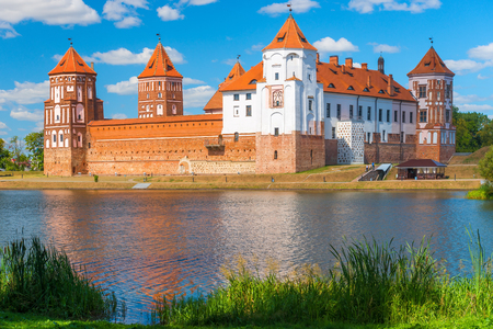 architectural heritage of the world: Mir Castle - fortification and residence in the urban village World Korelichi district of the Grodno region. Architectural, declared a UNESCO World Heritage Site (2000).