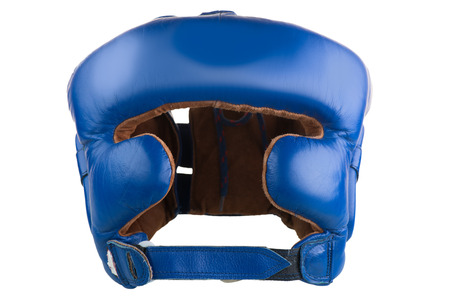 helmet to protect the head in boxing isolated