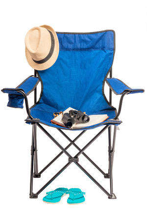objects for outdoor recreation on a white background in studio Stock Photo