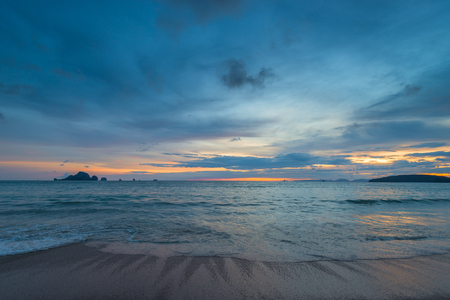 beautiful calm Andaman Sea in the evening before the onset of darkness, beautiful seascape