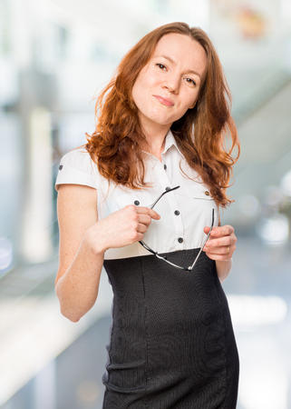 successful business woman in the office Stock Photo