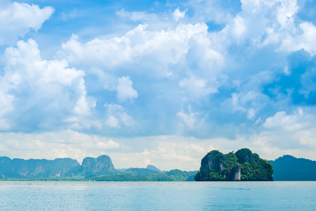 beautiful clouds over the islands and the sea in Thailand