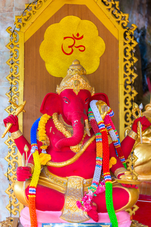 red beautiful elephant god of Ganesha Indian religion