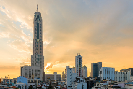 view of the tall famous skyscraper Bayok Sky in Bangkok, Thailand Stock Photo