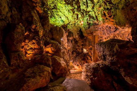 rocky scenic cave tourist route, no people