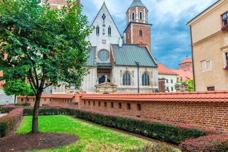 Krakow, Poland - August 13, 2017: Krakow, beautiful church in the Wawel Castle