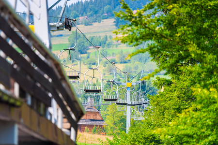 lift up the mountain for skiers during the summer in Poland Zakopane