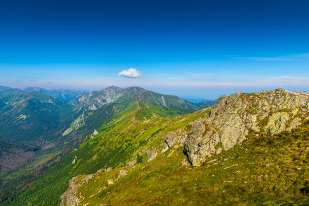 scenic green Tatra Mountains in Poland, landscape Kasprowy Wierch 写真素材