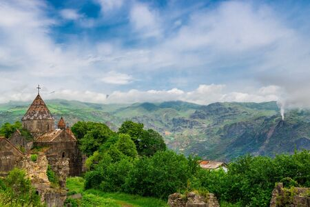 Beautiful view of the monastery Sanahin and mountains, Armenia