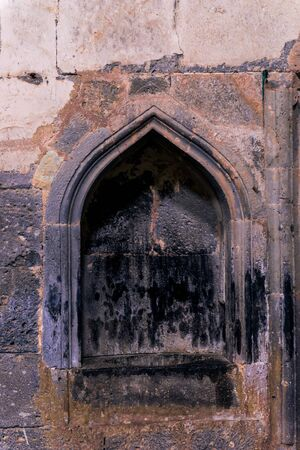 Closeup of a niche in the wall of the monastery Sanahin in Armenia