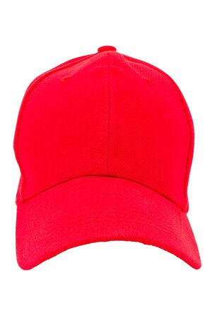 clothes and accessories red cap with a visor on a white background is insulated