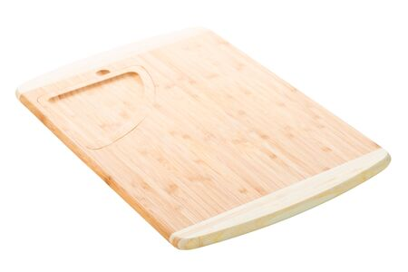 Wooden kitchen cutting board on a white background isolated Stockfoto