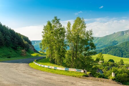 Road in the mountains with a bend and turn in a picturesque location, landscape of Armenia Stockfoto