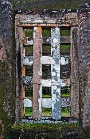 window in the ancient brick wall, Polonnaruwa, Sri Lanka Stock Photo - 17931058