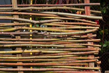 poling: lath fence of twigs