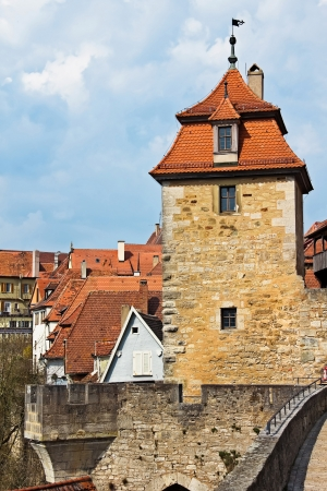 The defensive tower of medieval fortress in Rothenburg ob der Tauber, Bayern, Germany photo