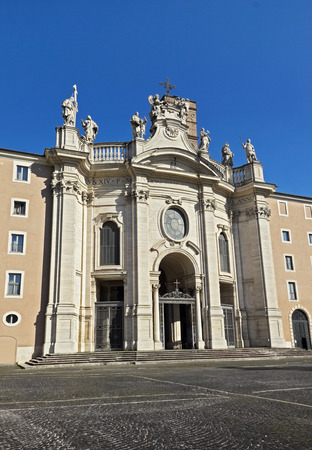 Basilica of the Holy Cross in Jerusalem  Santa Croce in Gerusalemme , Roman Catholic parish  It is one of the Seven Pilgrimage Churches of Rome, Italy   photo