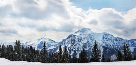 Beautiful panorama of European Alps at Schwangau, Bavaria, Germany‎