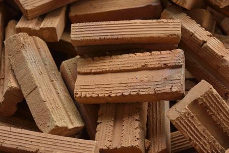 樹皮茶色のれんが造りの建物。利用可能です。それを使用した場合、非常に強いです。 写真素材