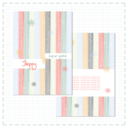 New Year. Postcard template. Invitation. Vertical multicolored stripes. Abstract.