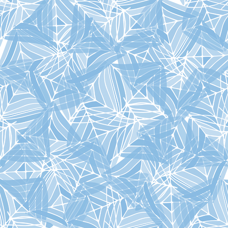 Abstract background. cobweb. Seamless. geometric figures. Blue color. Illustration