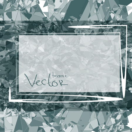 Gray abstract background texture frame or card. 일러스트