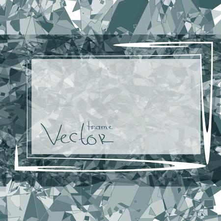 Gray abstract background texture frame or card. Illusztráció