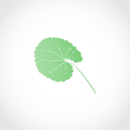 Gotu kola. leaf. Logo, embleml. Silhouette.