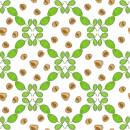 Moringa. Plant. Leaves and seeds. Background, wallpaper, texture, seamless. Sketch. Color pattern. Stock Vector - 113562346