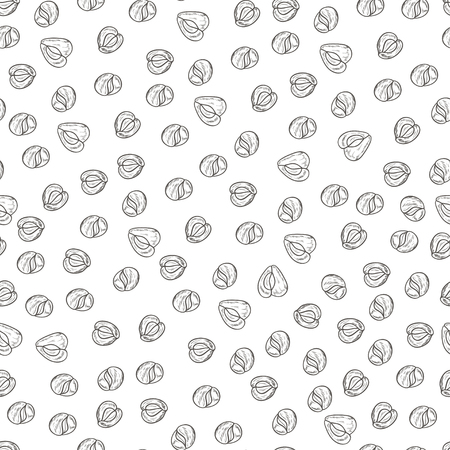 Moringa. Seed. Background, wallpaper, seamless. Sketch. Monochrome Stock Photo - 105486844
