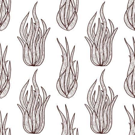 Spirulina. Algae. Sketch. Monophonic. Background, wallpaper, seamless, texture.