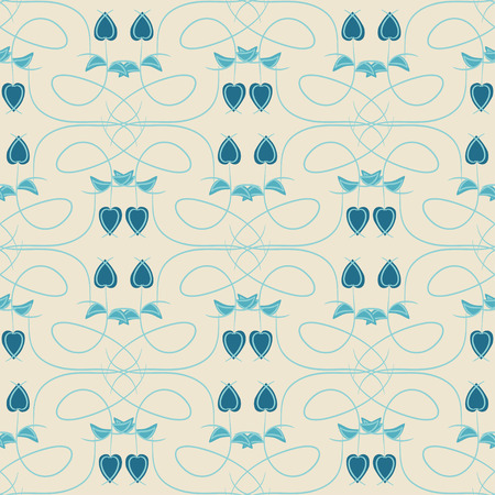 Blue Rose. Background, wallpaper, texture. Abstract. Seamless. Ethnic pattern. Vector Illustratie