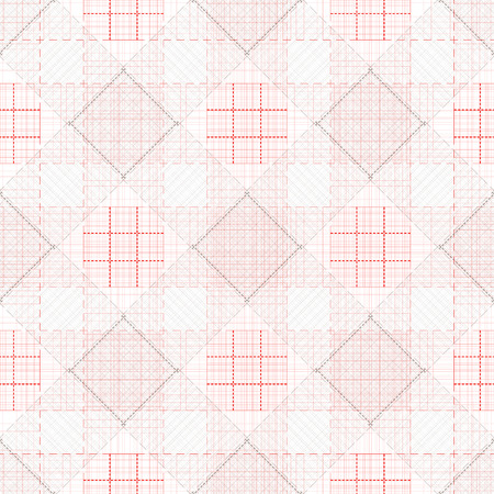 Square, lines. Seamless. Wallpaper. Red and white. Plaid, cloth.
