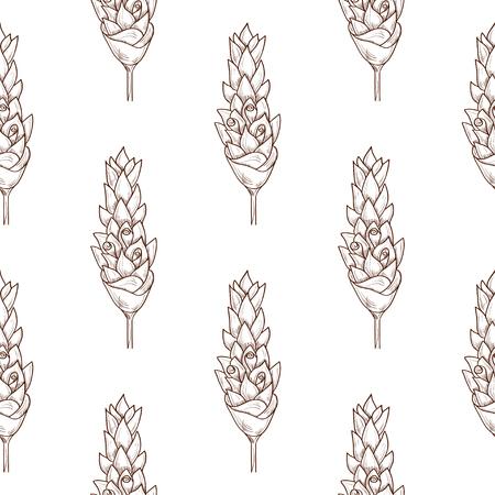 Kurkuma. Blume. Skizzieren. Hintergrund, Tapete, Textur, nahtlos. Monophon. Vektorgrafik