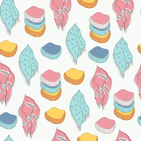 Towel. Background, texture, wallpaper. Seamless. Sketch Illustration