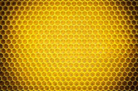 Circular honeycomb background. Elliptic dark gradient beeswax Stock Photo