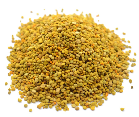 Pile of bee pollen Background Isolated On White. Stock Photo - 65440041