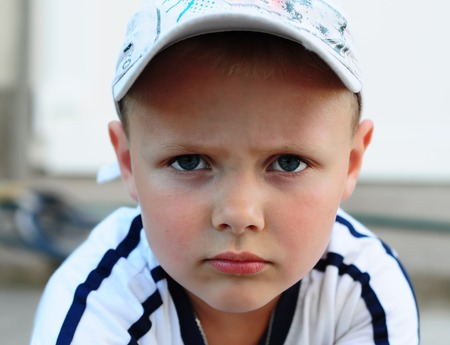 Little boy with expression amount and facial images.